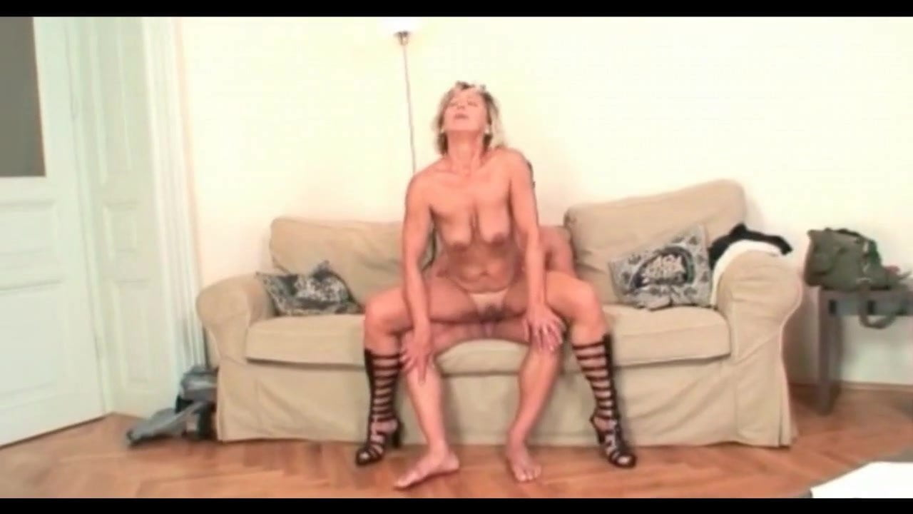 mature riding young cock