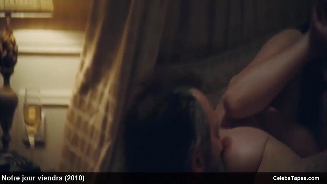 Camille Rowe & Josephine de La Baume nude topless in film