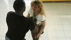 Hubby brings hot wife to the blalck master