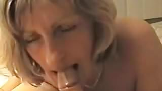 mom janet suckin' her new BF's cock
