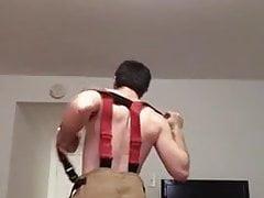 sexy straight fireman Striptease