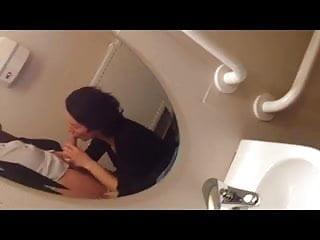Wife's BJ in Public Toilet