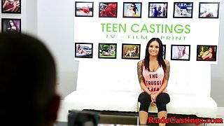 Bigtits teen banged at brutal casting