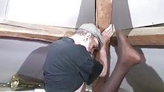 Interracial  Ebony french anal