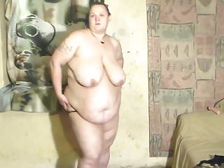Bbw wife dancing and stripping