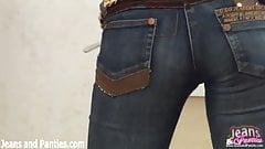 Tiny teen Carolina stripping off her cute panties