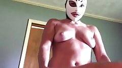 Amateur Latex Mask Pegging