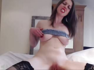 British Webcam Slut Fucks Pussy And Deepthroats her toy