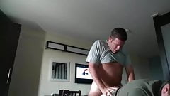 Handsome married daddy fucking in motel