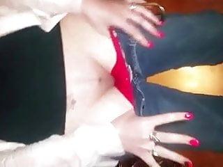 Her bf cums in her panties