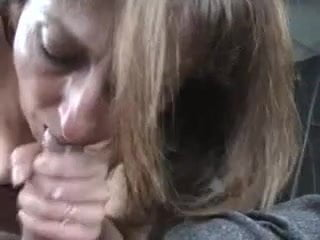 Amature couple blowjob and sex on couch, cum on ass