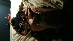 Barefoot girl hogtied and tickled