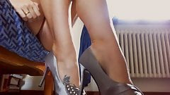 Beautiful feet shoes completely destroyed and abused