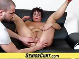 Lady Greta an aged vagina zoomed and spread