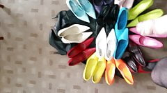wanking over wifes shoes xx