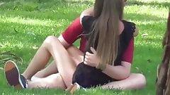 Voyeur couple in park