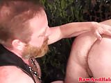 Leather fetish bears rimming and cocksucking