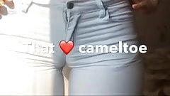 Tight jeans cameltoe thighgap hips