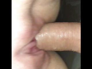 Slut wife gagging on and fucking my cock till she cums