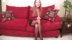 Gorgeous redhead cougar big black cock handjob