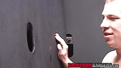 Deviant youngster fucked and fed cum after glory hole blow