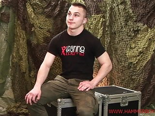 First casting shy sexy Alex Novak from Hammerboys TV