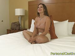 Busty casting beauty banged for cash