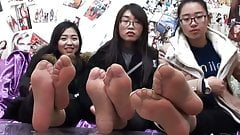 asian nylon feet close up pt1