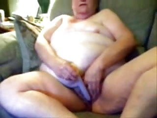 Horny granny likes to be watched while she masturbates