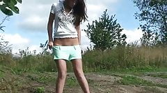 tranny sissy anal dildo fisting outdoor 223