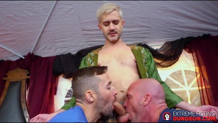 Fetish dudes have a threesome with fisting thrown within the combine