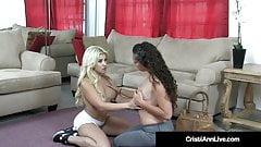 Asian Blonde Cristi Ann & Victoria Monet Double Fuck Dildo!