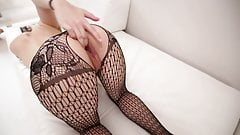 Klaudia w bodystocking i spust Darka