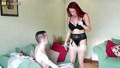 Big breasted British MILF fucking her toy boy