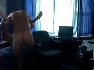 Horny mature fucks his younguer friend in morning