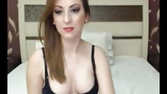Seductive Tranny shows pretty face and flaunts bigcock