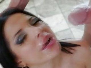 Superb facial cumshot compilation by dimecum