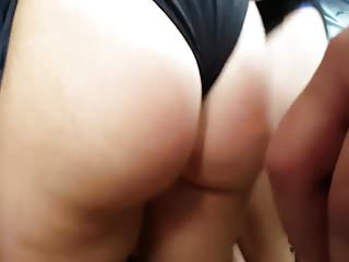 Candid pawg slut in one piece !!