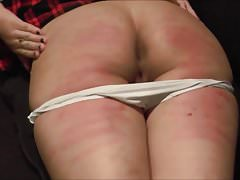 Schoolgirl knickers down counting strokes