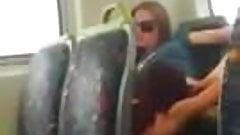 Lesbian pussy licking in train - voyeur in public