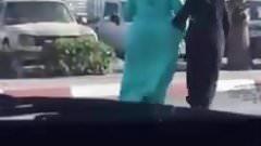 Beautiful huge ass in street walking 2