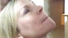 Blonde milf facial 1