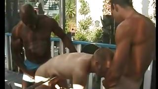 Me, my trainer and his bodybuilder friend