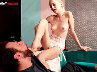 Elisa's Nephew Part 3- Skinny Girl Barefoot Licking