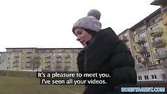 HornyAgent Outdoor sex filmed amateur camcorder in publi