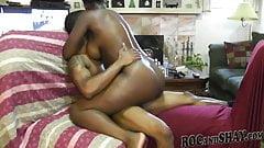 Black couple enjoying sexy time!