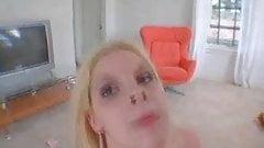 cute girl swallows her cum reward
