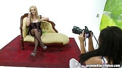 Charley Green glammed up and ready for Jasmine Black