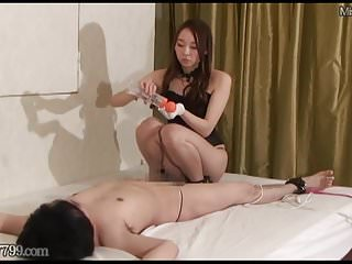 Japanese Femdom Risa Tease and Denial Handjob