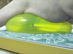 Yellow geo balloon humping fuck cum